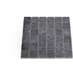 Belgisch Hardsteen Tumbled 4,8 x 4,8 x 1 cm