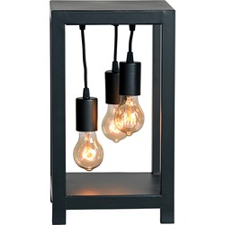 Table lamp Dangle by LABEL51 is a robust metal frame-style lamp in which the name says it all; this lamp features dangling light sources that add a playful accent to the sleek design. The open structure of this lamp offers great light output.<br>