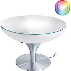 Moree - Ronde Salontafel Lounge - Hoogte 55 Cm LED Pro Outdoor  - Wit