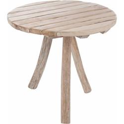 Nature - bistrotafel - rond - hout - naturel - 3 poten
