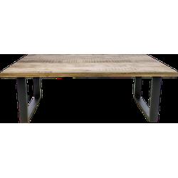 Rechthoekige eettafel Portland - 200x100 cm - mangohout/ijzer