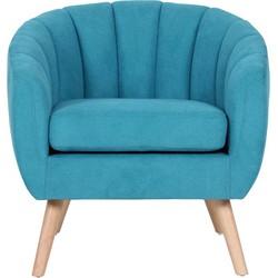 Fauteuil Lino - Licht blauw - Suedine