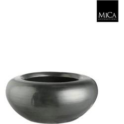 Mica Decorations schaal rond vera maat in cm: 13 x 28 platinum
