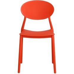 Mega stoel - rood - set van 4