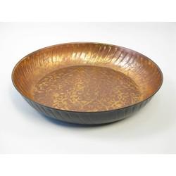 Bowl Round Iron Copper/Black 45cm
