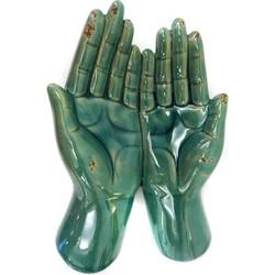 Fine Asianliving Open Handen Keramiek Vintage Blauw