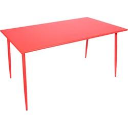 Outdoor Living tafel Da Vinci 140x80x73cm metaal rood