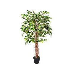 4 Feet Variegated Ficus Tree Artificial Plant