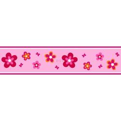 ESTAhome behangrand bloemen roze