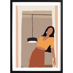 Abstract Girl Art Poster 2 (70x100cm)