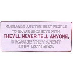 Muurplaat Husbands are the best