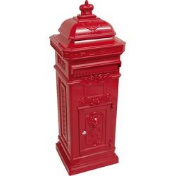 Outdoor Living brievenbus kolom rood