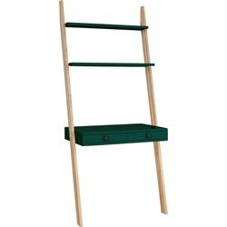 LENO ladder shelf desk bottle groen