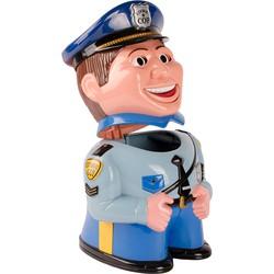 Dresz Koektrommel Pratende Politieagent - Grijs/Blauw - 21x21x33cm