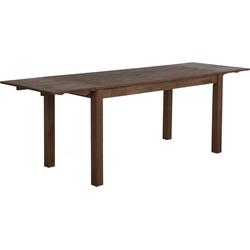 Eettafel hout donkerbruin 180 x 85 cm met 2 verlengstukken MAXIMA