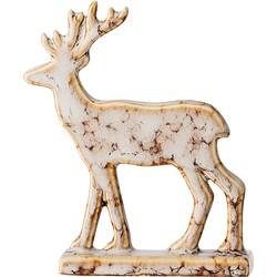 Bloomingville Reindeer Aardewerk 8 x 10 cm - Bruin