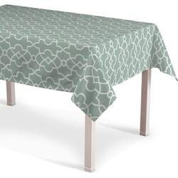 Rechthoekig tafelkleed groen-wit