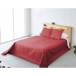 Nightsrest Bedsprei Chanella Rood-Grijs Maat: 180x270cm