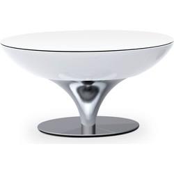 Moree - Ronde Salontafel Lounge - Hoogte 45 Cm LED Pro - Wit