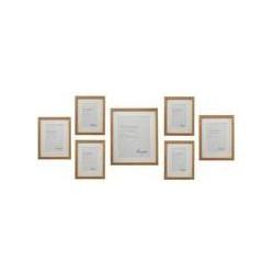 Linea Pale wood 7 piece gallery frame set