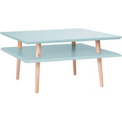 Salontafel vierkante laag licht turquoise