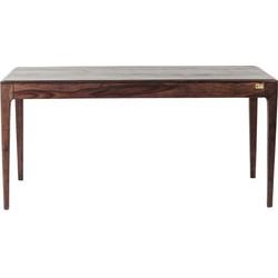 Kare Design Brooklyn Eettafel - L160xB80xH76 Cm - Sheesham Hout - Walnoot Kleur
