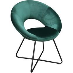 Kick fauteuil Coco Groen - Zwart frame