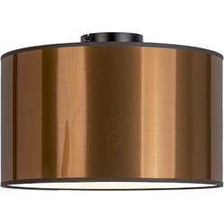 Modern Ceiling Lamp Black with 35cm Copper Shade - Combi