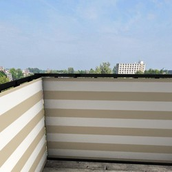 Balkonafscheiding gestreept beige (100x100cm Dubbelzijdig)