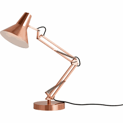 Bronx tafellamp, geborsteld koper
