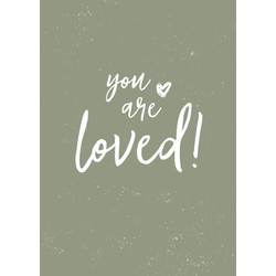 Zo Joann poster You are loved A5