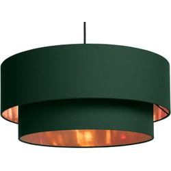 Hue gelaagde hanglampenkap, groen en koper