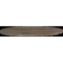 Tafelblad ovaal - 220x110 cm - old grey - teak
