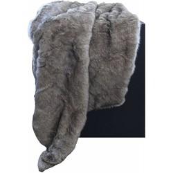 Bontplaid kleur Grey/Taupe in 140 x 180cm
