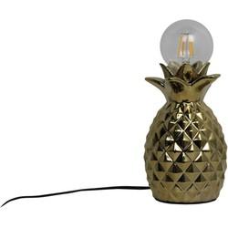 Ananas Lamp-12x20cm-Incl. gloeilamp-Keramiek-Goud-Housevitamin