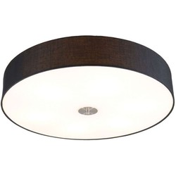 Ceiling Lamp Drum 70 Round Black