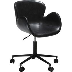 Dan-Form Gaia Bureaustoel - Zwart Vintage Kunstleer