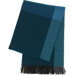 Vitra - Colour Block Decke, schwarz/ blau