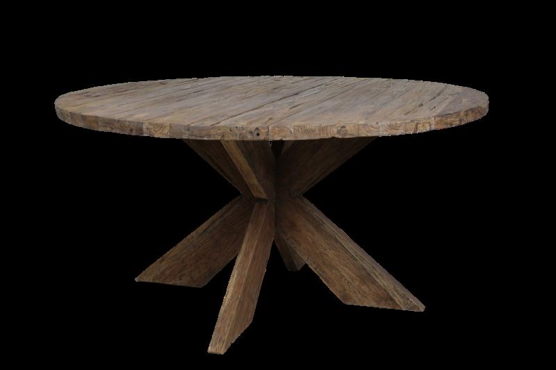 10x Vierkante Eettafel : Ronde eettafel cm dingklik erosie teak hsm