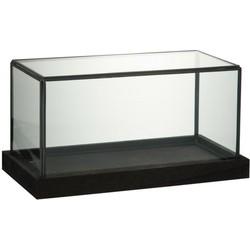 Glazen Stolp Zwart Rechthoek