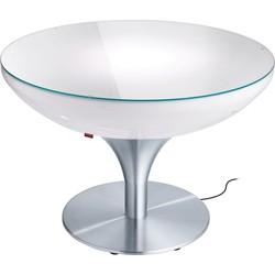 Moree - Ronde Salontafel Lounge - Hoogte 55 Cm Outdoor  - Wit
