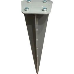Lifa windscherm dubbel - grondanker