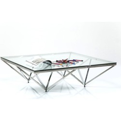 Kare Design Salontafel Network - 32x105x105 - Chroom