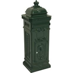 Outdoor Living brievenbus kolom groen