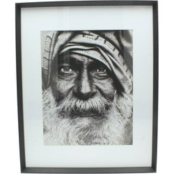 Photo Frame Wood Black 40x50cm