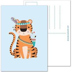 Tijger ansichtkaart - Tribal - DesignClaud
