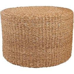 Scapa Home Poef Zeegras/Bamboe Bruin - 60 x 40 cm