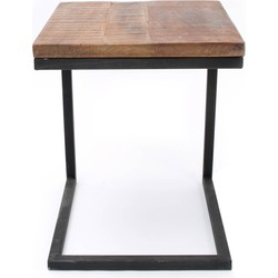 LABEL51 - Laptoptafel Vintage 40x40x50 cm - Industrieel - Hout