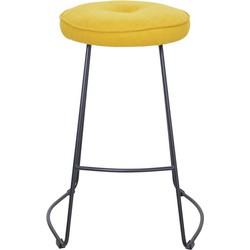 Set van 4 barkrukken - Bristol barkruk - suedine geel