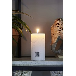 Rivièra Maison Rustic Candle frosted white 7x13 Kaars